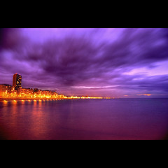 30 Seconds City (Dimitri Depaepe) Tags: city longexposure sea beach skyline clouds bravo nightshot oostende hdr ostend magicdonkey mylastphotoinspiredbyyoulol