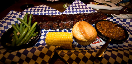 Famous Daves BBQ Baby Back Rib Platter