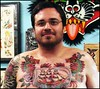 Josh's Chest Tattoo by Jason Brooks Rock of Ages
