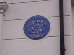 Photo of Violette Szabo blue plaque