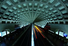 Vanishing point (philliefan99) Tags: train subway metro tunnel explore dcist arlingtonvirginia concourse metrorail wmata pentagoncity photofaceoffwinner photofaceoffplatinum pfogold may08pfobrackets