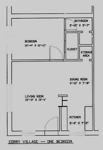 Corry Village One Bedroom Floor Plan