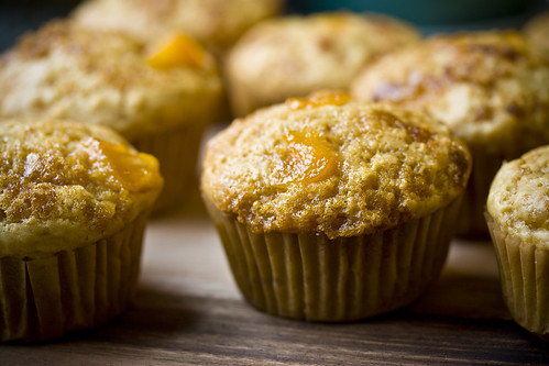 Brown Sugar and Peach Muffins