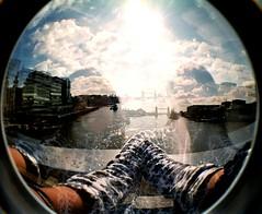 Towerbridge and twins (madcookie) Tags: london towerbridge twins fisheye
