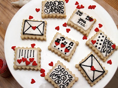 love letter cookies (nikkicookiebaker) Tags: cookies decorated