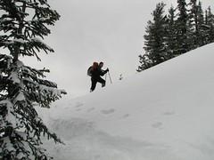 wildernessed maneuvering through ridge drifts.