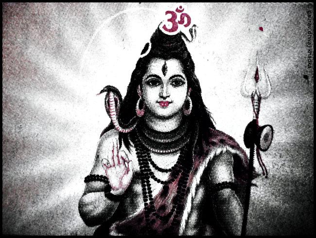 Lord Shiva [ Pink ver. ] by Gaurav Dhwaj Khadka