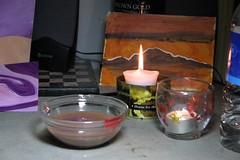 Candles and paintings