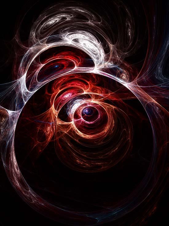 Fractal Art - Ocular Flame by Nicholas M Vivian