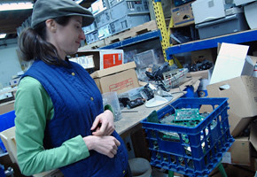 Ifny Lachance gives a tour of her east Vancouver warehouse.