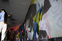 in action (mrzero) Tags: streetart art lines wall effects graffiti 3d paint hungary action eger letters tunnel spray styles colored graff cfs hepi mrzero