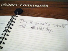 Visitors' Comments Notebook, SAAM