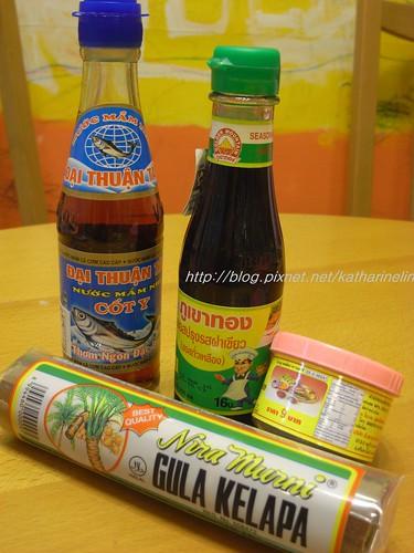 你拍攝的 泰國菜調味料。