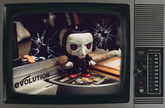 Famous (Ant Sykes Photography) Tags: saw jigsaw billy puppet toy evolution nec television retro