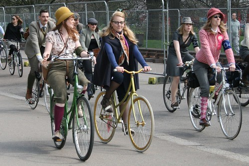 Leisurely biking ladies