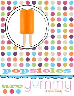 Polka Dot Popsicle Party Print copy