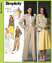 Simplicity 4044, 1940s Suit (vintage laura) Tags: 1940s simplicity 4044