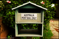 Australia post mail only (foto door: Lorenzo Colen)
