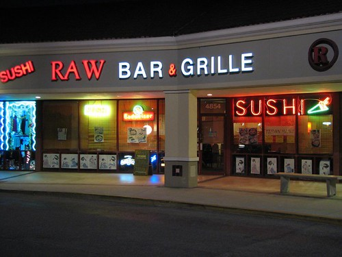 outside the Sushi Raw Bar & Grille