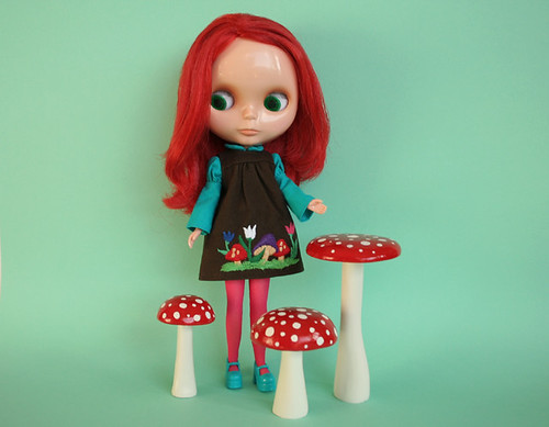 Cherry Brandy with toadstools by Funny Bunny - Helena.