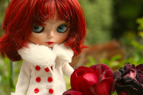 Rosie and the roses by sadaloha.