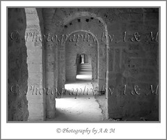 Arches in Passageway (I Spy with my Idiosyncratic Eye ...) Tags: blackandwhite bw building scale monument monochrome stone architecture mono blackwhite sandstone arch northafrica tunisia path interior sandy perspective corridor indoor arches historic size indoors national maghreb historical inside bandw passage fortress height passageway tunisian monastir arched ribat northafrican decreasing maghrib lineof almunastir photographybyaandm photographybyam