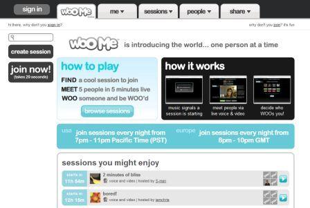 WooMe homepage
