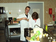 Kitchen job (trabifahrer) Tags: school boy party feest kitchen girl groen teens teacher opening friesland pupils sneek nieuwbouw aoc vmbo vogonpoetry 23november2007