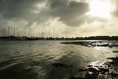 Harbwr Pwllheli (LLeufer) Tags: morning sea sun seaweed reflection water silhouette wales clouds boats bay coast weekend sunday cymru coastline dwr bae ceredigion cardigan mor sul haul gwynedd bore cychod cymylau adlewyrchiad arfordir gogledd gwymon penwythnos silwet harbwrpwllheli pwllheliharbour