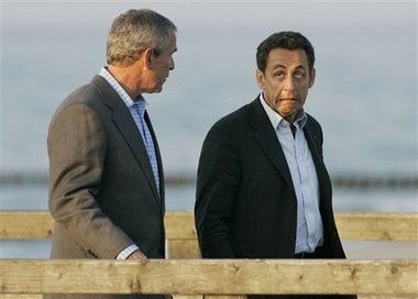 Bush+&+Sarkozy,+6.7.07