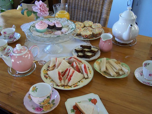 virtual tea party -before