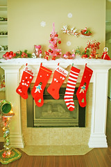Holidaisy, Boopsie style  :) (boopsie.daisy) Tags: santa christmas decorations red holiday tree stockings japan mailbox vintage reindeer snowflakes fireplace stripes sadie kitsch deer livingroom ornaments snowmen bulbs apples rudolph fawns ashton decor strawberryshortcake mantle bradleydoll pinktree fauxsnow boopsiedaisy