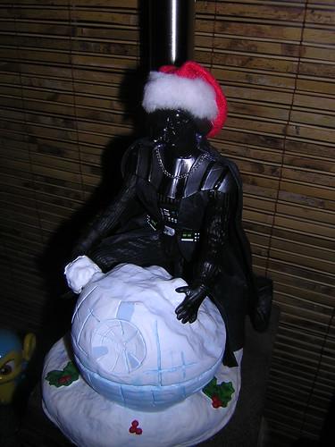 Darth Vader, making a snow Death Star