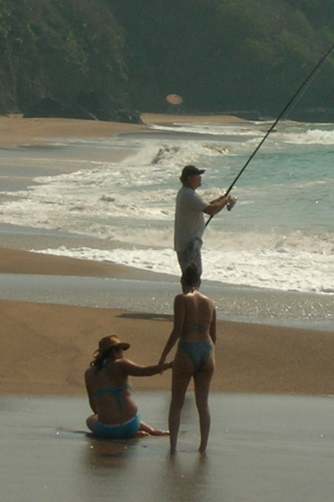 Fishing with bikinis