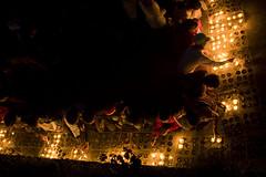 Candles at Kyaikhtiyo Pagoda (Golden Rock)