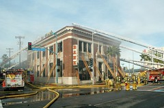 LAFD Ladder Placement. © Photo by Mike Meadows. Click to learn more...