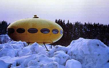 La casa ovni, en el frío de Finlandia