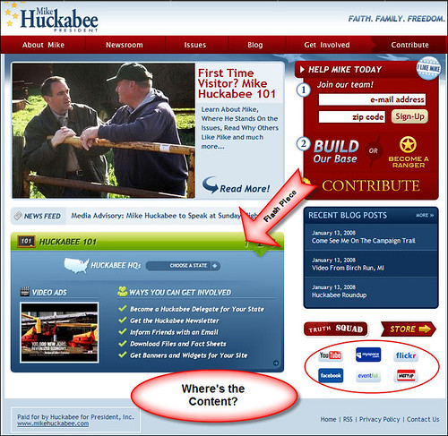 Mike Huckabee for President Main Page