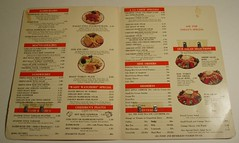 Thrifty menu (inside)