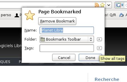 ajout d'un bookmark dans firefox 3