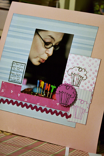 scrapbooking a birthday