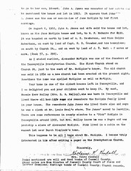 Kendall McAlpin House Letter 1975 (Page 2)