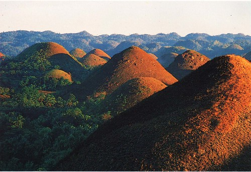 Chocolate Hills located in Bohol, Philippines