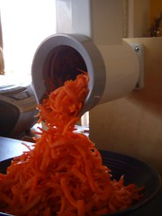 Carrots in the food mill