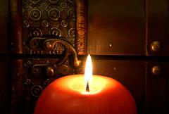 Apple candle (dmitri_krendelev) Tags: canon candle candlelight hdr cs3 3xp 40d mywinners diamondclassphotographer dmkr