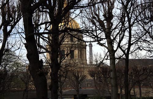 Vista desde los jardines del Museo Rodin