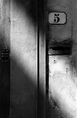 Number 5 (The Green Album) Tags: light bw italy detail texture wall florence blackwhite shadows post noiretblanc 5 five letters number postbox doorbell numberplate blackdiamond mywinners theunforgettablepictures artlegacy theperfectphotographer