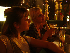 posing (kat's_eye) Tags: street bar reflections point outside hotel kat edinburgh jen colours inside cocktails 4am wandering restless photobyemma april2008