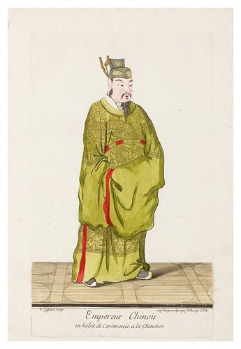 Emperador chino en vestimenta de ceremonia