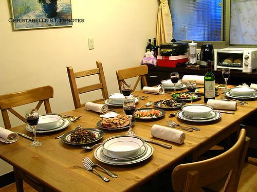 母親節大餐準備_餐桌前菜